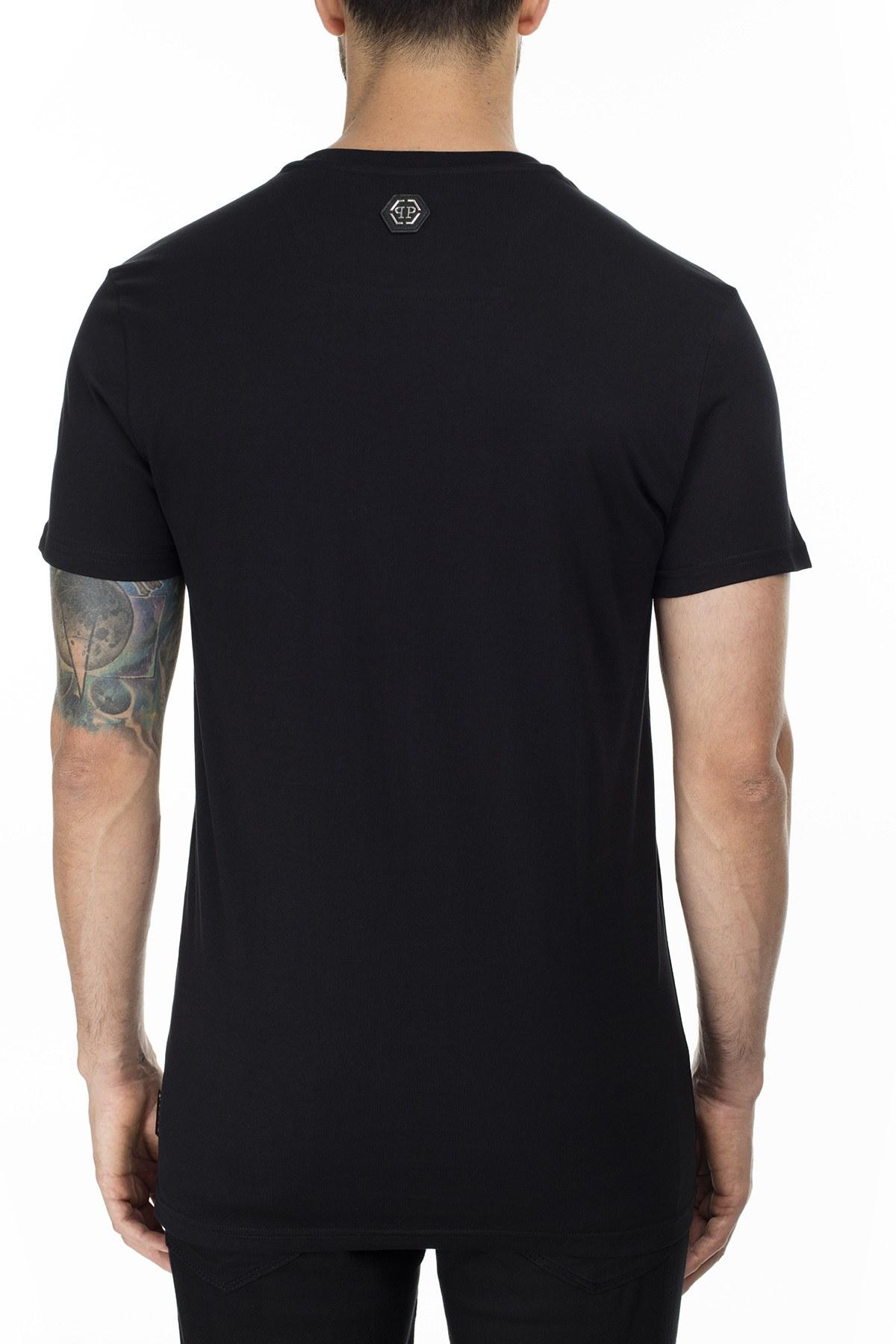 Philipp Plein Erkek T Shirt P20C MTK4429 PJY002N 02 SİYAH