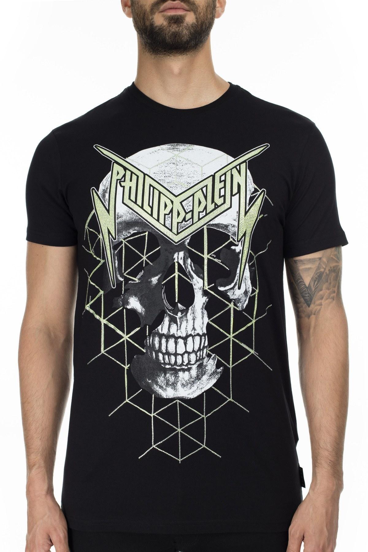 Philipp Plein Erkek T Shirt P20C MTK4432 PJY002N 02 SİYAH