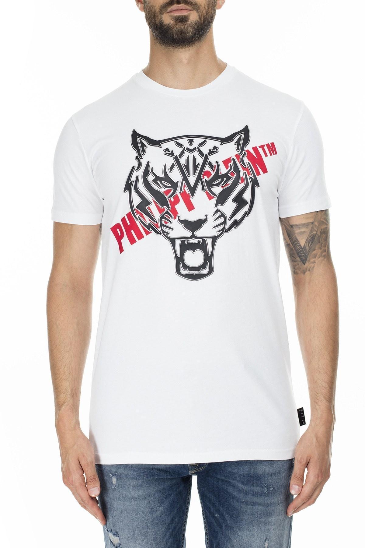 Philipp Plein Erkek T Shirt P20C MTK4484 PJY002N 01 BEYAZ