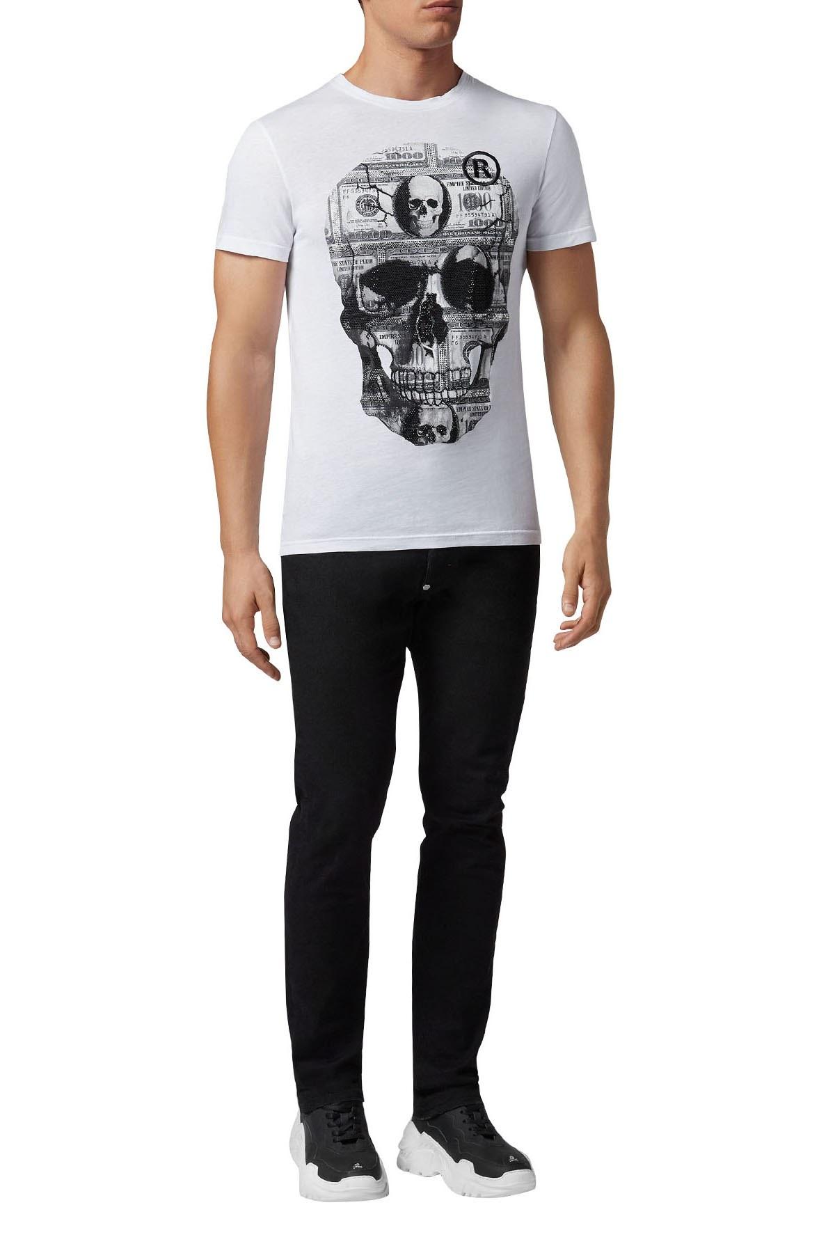 Philipp Plein Erkek T Shirt S19C MTK3000 PJY002N 01 BEYAZ