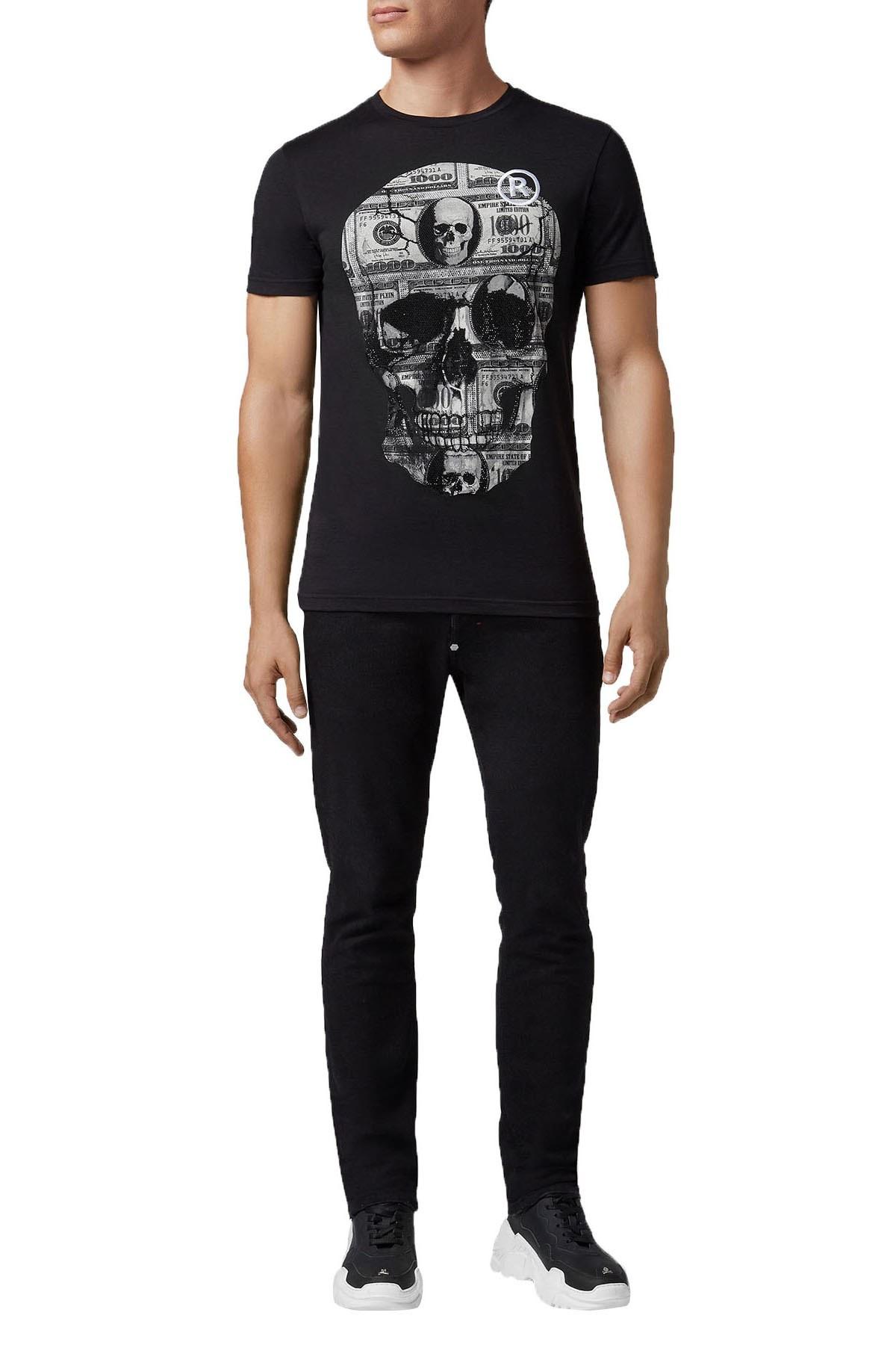 Philipp Plein Erkek T Shirt S19C MTK3000 PJY002N 02 SİYAH