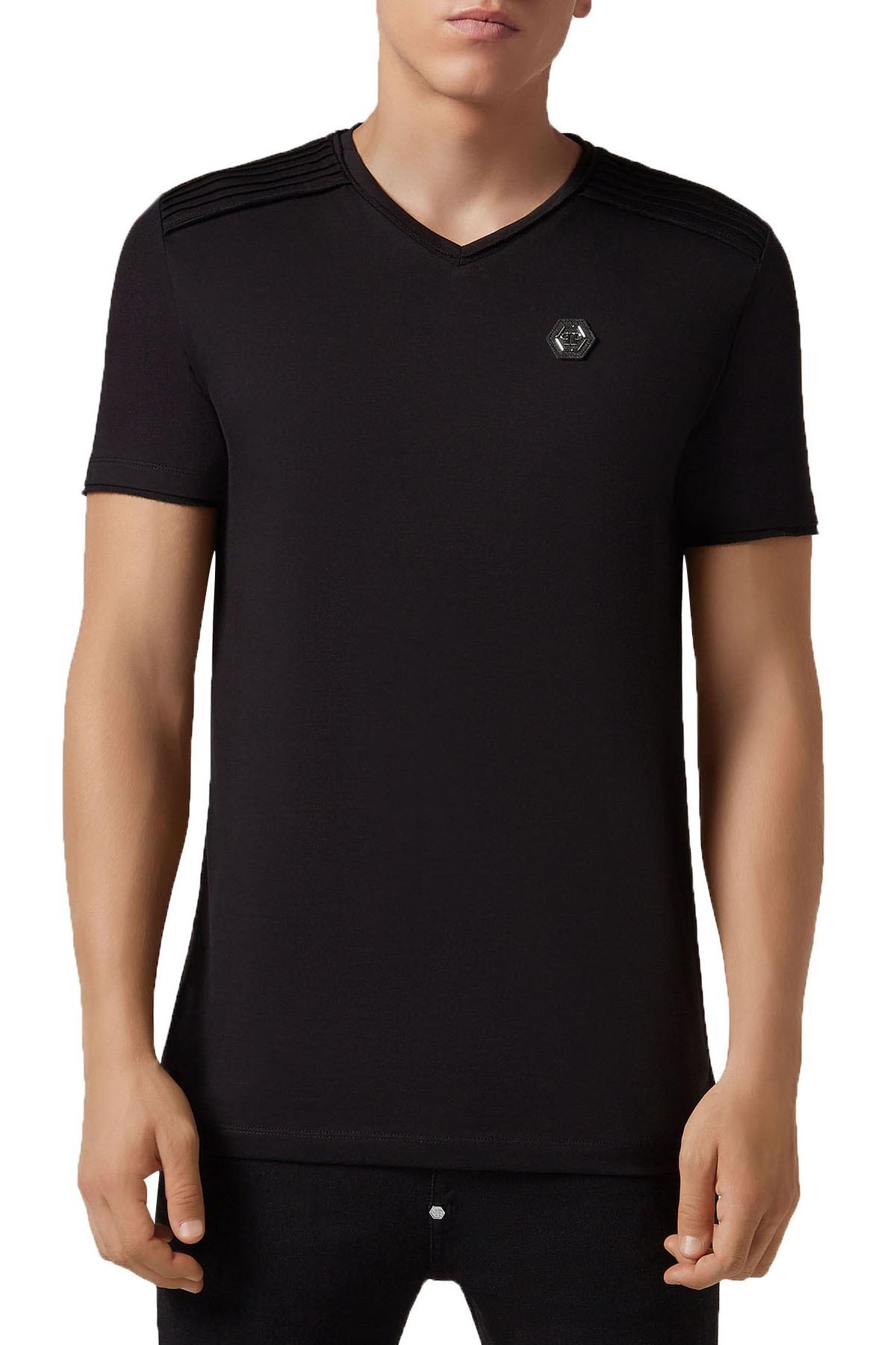 Philipp Plein Erkek T Shirt S19C MTK3027 PJY002N 02 SİYAH