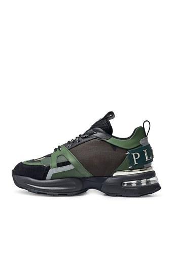 Philipp Plein Hakiki Deri Erkek Ayakkabı F20S MSC2868 PXV001N 65 HAKİ