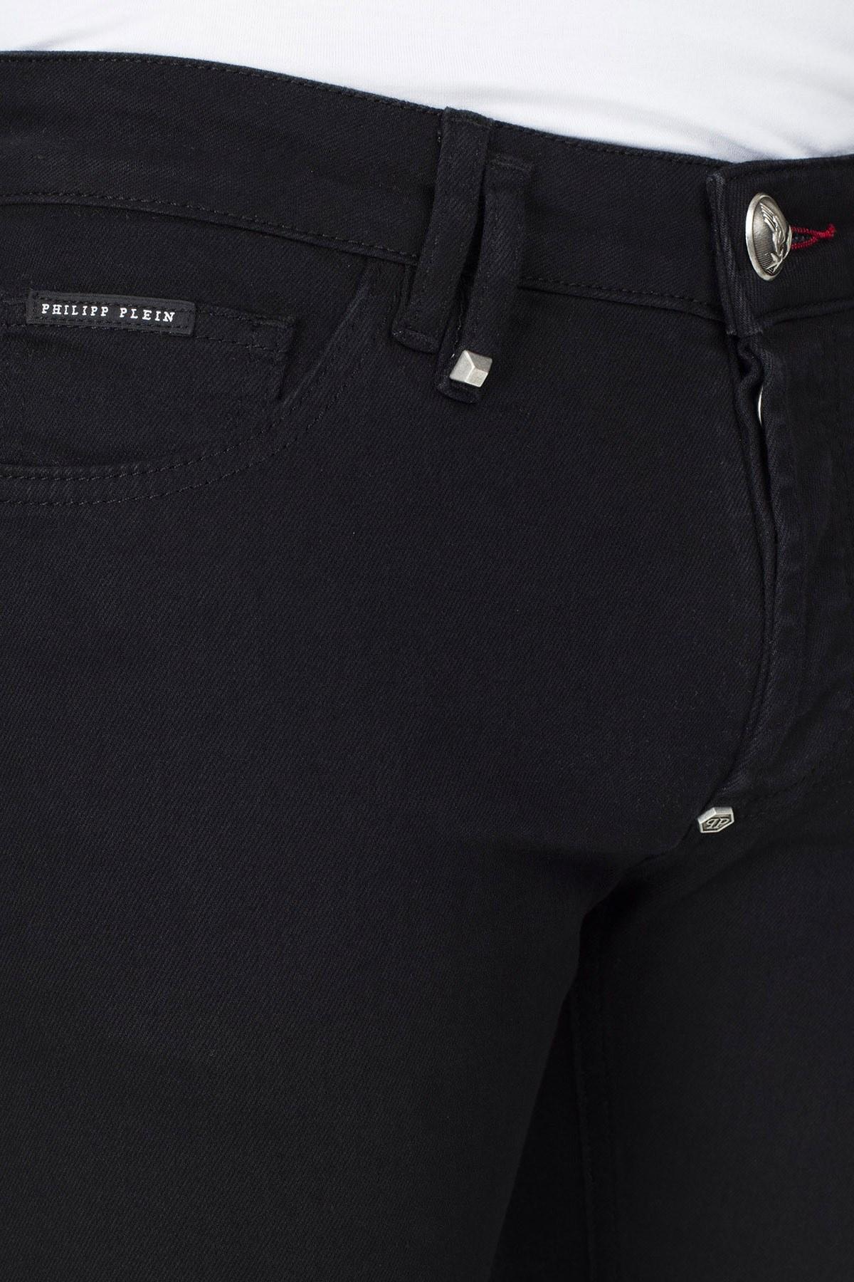 Philipp Plein Jeans Erkek Kot Pantolon P20C MDT2168 PDE004N 02TE SİYAH