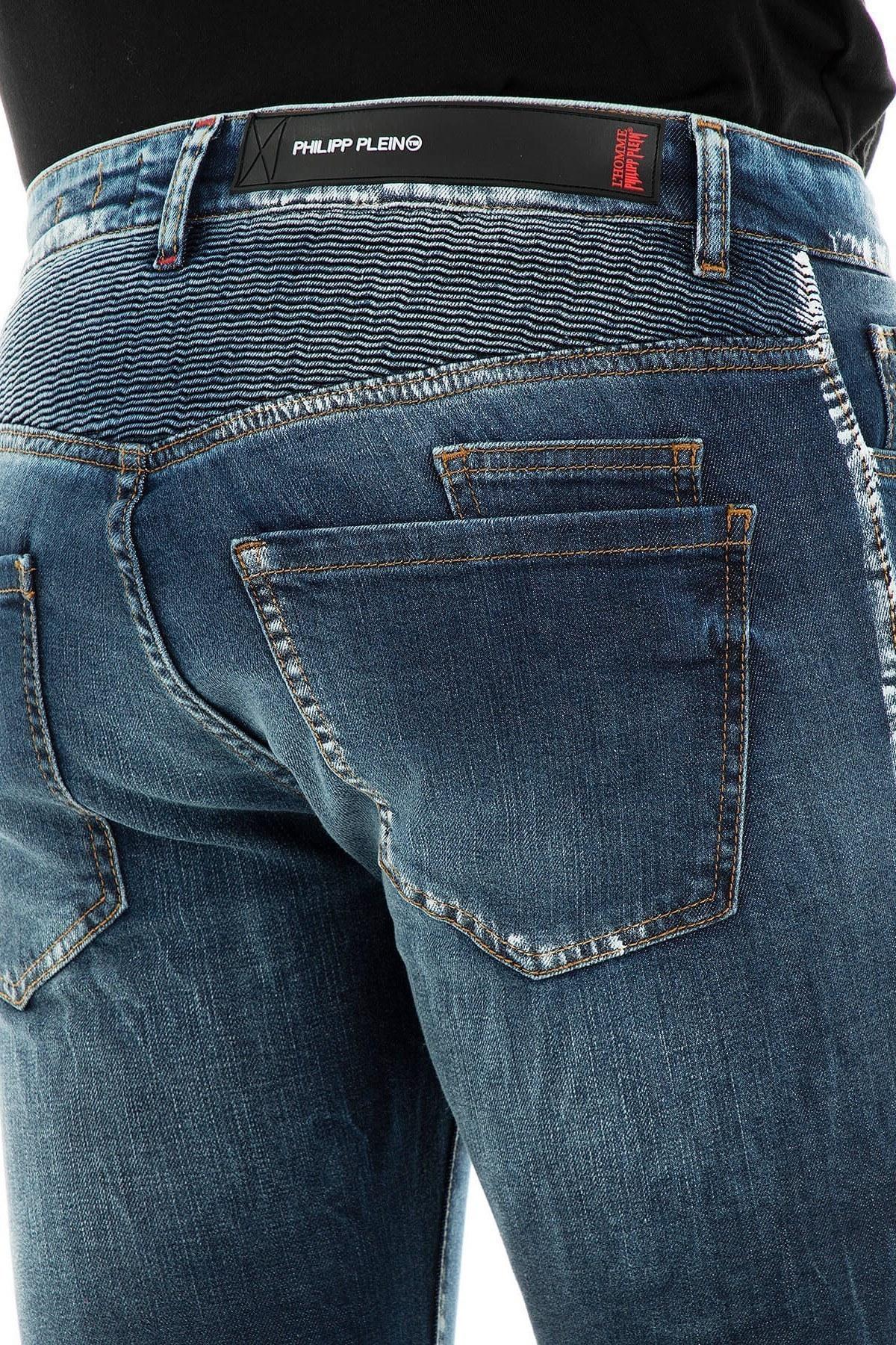 Philipp Plein Jeans Erkek Kot Pantolon S19C MDT1421 PDE004N 085A LACİVERT