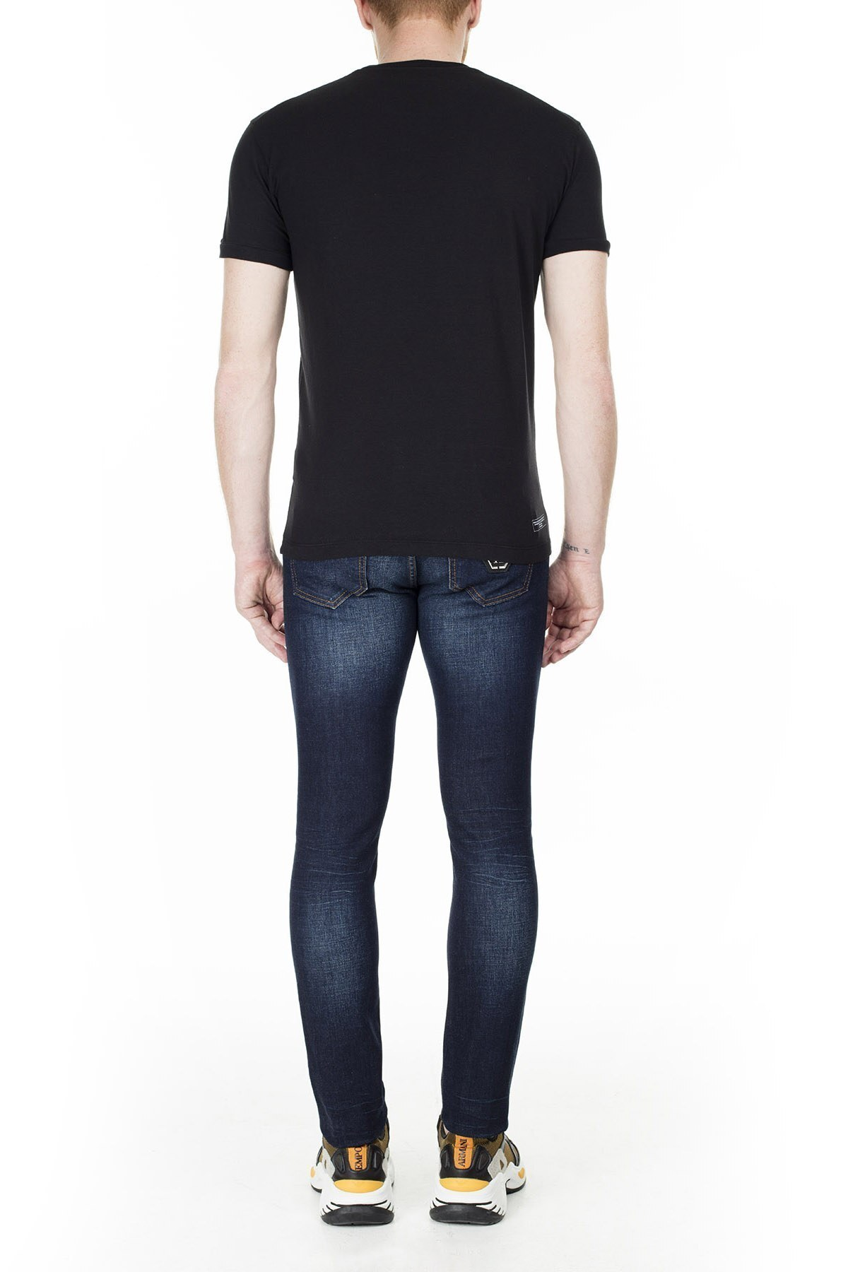 Philipp Plein Slim Fit Jeans Erkek Kot Pantolon P20C MDT2167 PDE004N 14CR LACİVERT