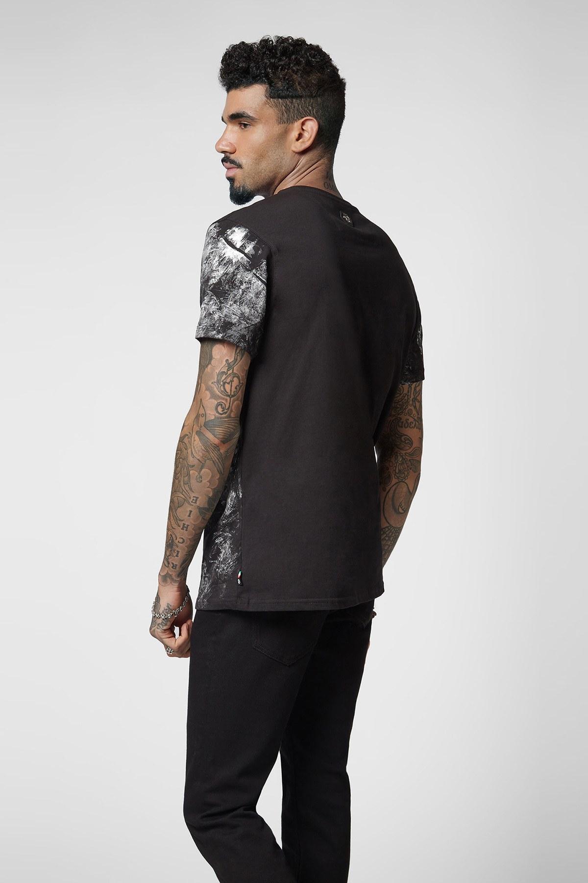 PHILIPP PLEIN T SHIRT Erkek T Shirt A18C MTK2675 PJY002N 02 SİYAH