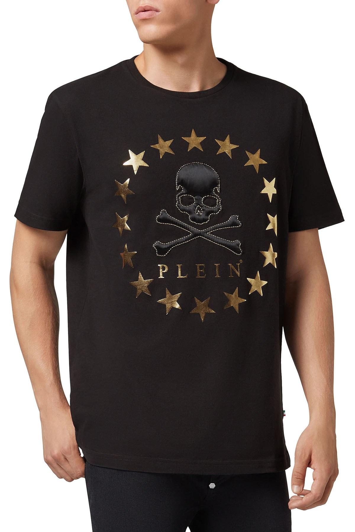 PHILIPP PLEIN T SHIRT Erkek T Shirt F18C MTK2368 PJY002N 0216 SİYAH