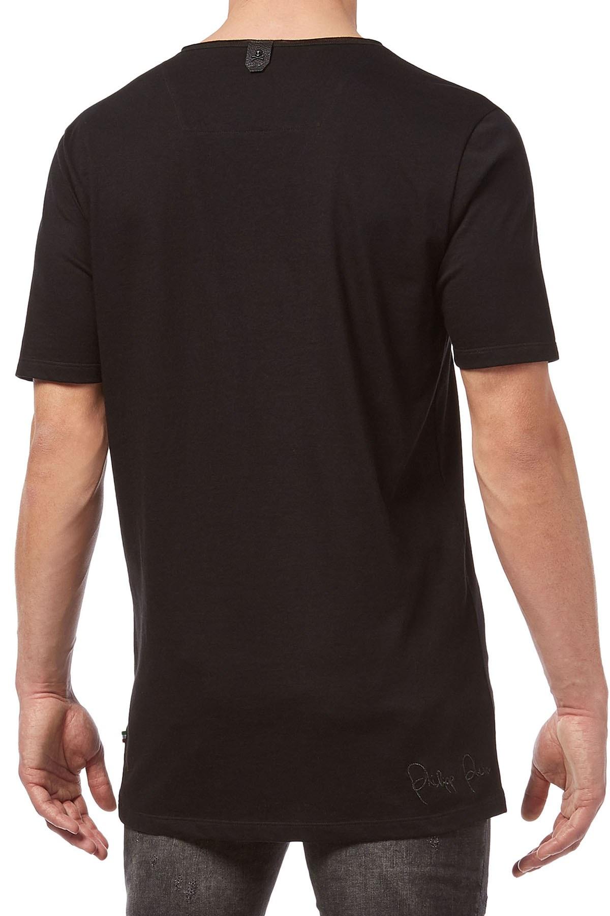 PHILIPP PLEIN T SHIRT Erkek T Shirt F18C MTK2397 PJY002N 02 SİYAH