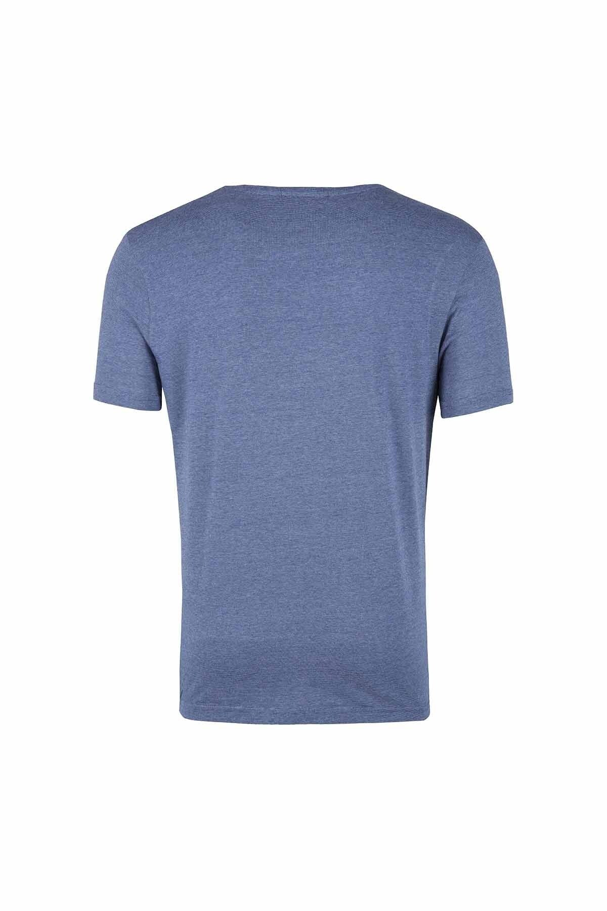 PIERRE BALMAIN T SHIRT Erkek T Shirt HP68226TA8292 730 İNDİGO