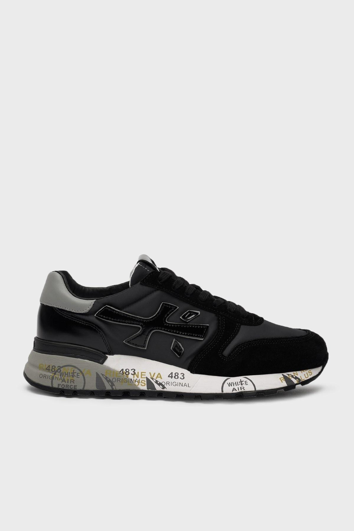Premiata Baskılı Sneaker Erkek Ayakkabı MICK 5017 SİYAH