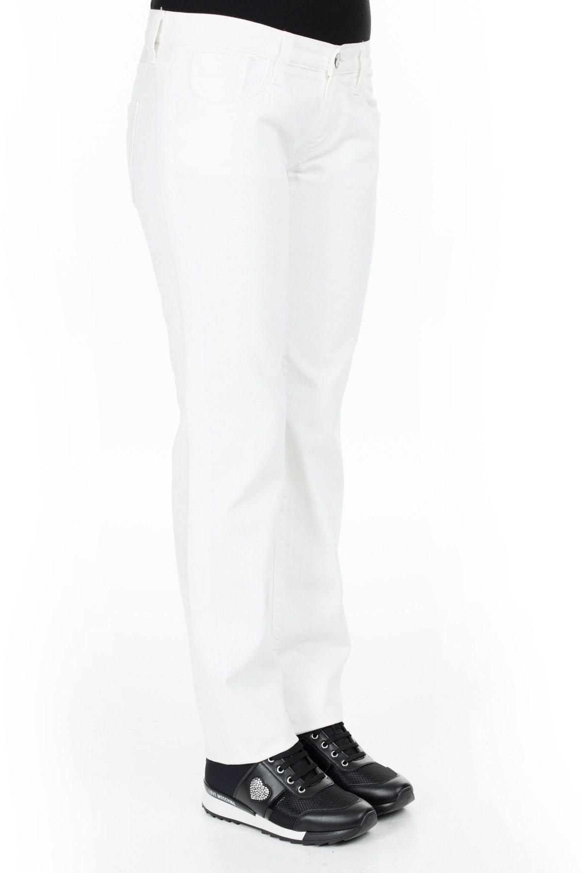 Replay Jeans Bayan Kot Pantolon ZOXWV552 BEYAZ