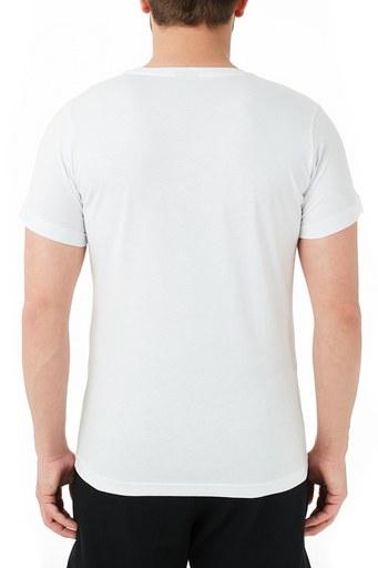 Ruck & Maul % 100 Pamuklu Bisiklet Yaka Erkek T Shirt RMM03000723 BEYAZ