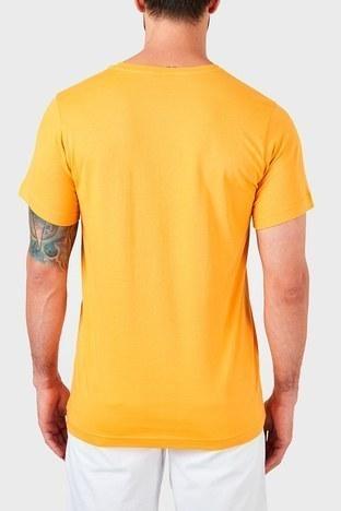 Ruck & Maul - Ruck & Maul % 100 Pamuklu Bisiklet Yaka Erkek T Shirt RMM03000712 SARI (1)
