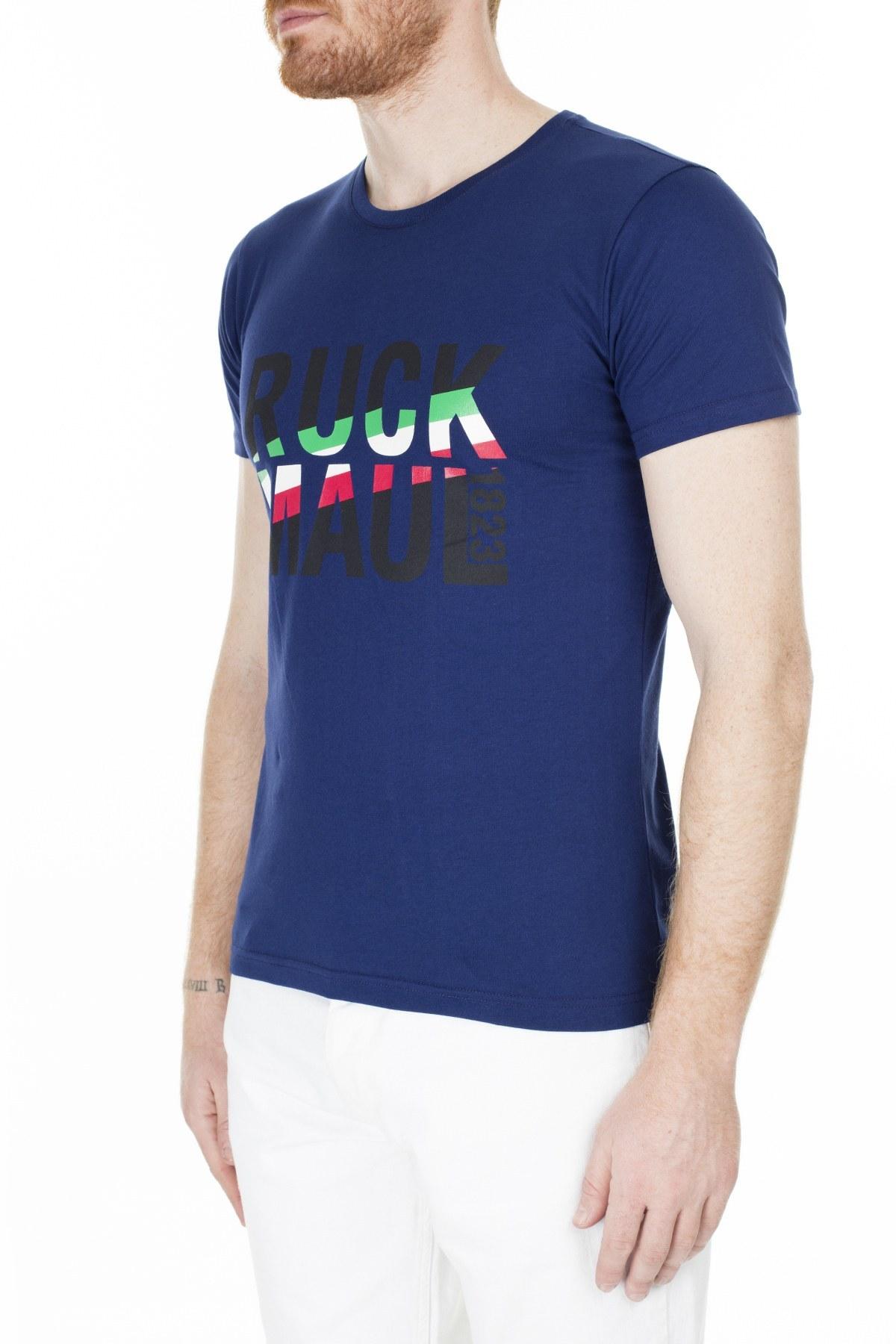 Ruck & Maul Erkek T Shirt S20M0320Y0431 LACİVERT-TURUNCU