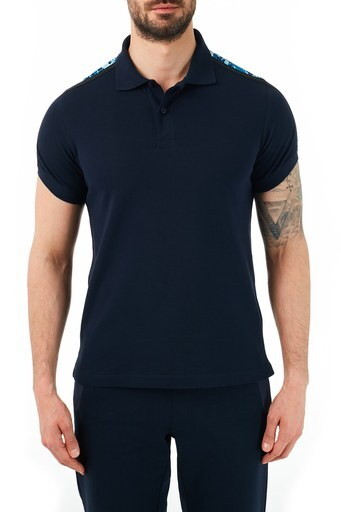 Ruck & Maul Pamuklu Düğmeli T Shirt Erkek Polo RMM01000709 LACİVERT