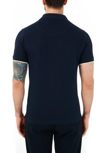 Ruck & Maul Pamuklu Düğmeli T Shirt Erkek Polo RMM01000711 LACİVERT