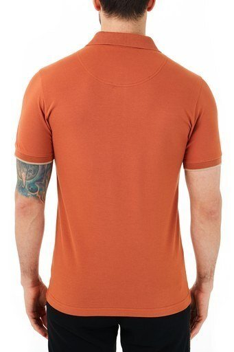 Ruck & Maul Pamuklu Düğmeli T Shirt Erkek Polo RMM01000711 TARÇİN