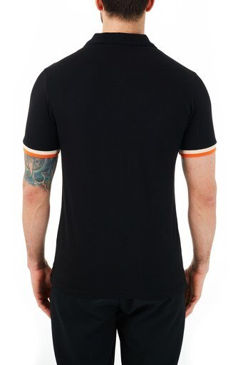 Ruck & Maul Pamuklu Düğmeli T Shirt Erkek Polo RMM01000714 SİYAH