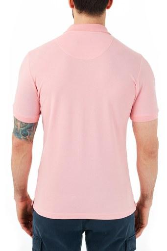Ruck & Maul Pamuklu Düğmeli T Shirt Erkek Polo RMM01000715 PEMBE