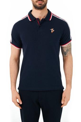 Ruck & Maul Pamuklu Düğmeli T Shirt Erkek Polo RMM01000719 LACİVERT