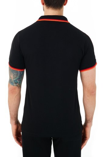 Ruck & Maul Pamuklu Düğmeli T Shirt Erkek Polo RMM01000719 SİYAH
