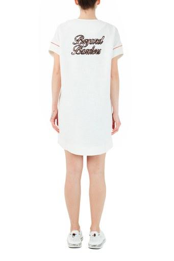 Ruck & Maul Pamuklu Fermuarlı Cepli Mini Bayan Elbise RMW19000701 BEYAZ