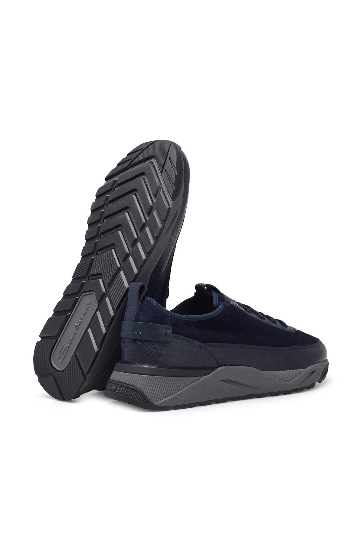 Santoni Erkek Ayakkabı MBIO21323ANERVBRU75 LACİVERT