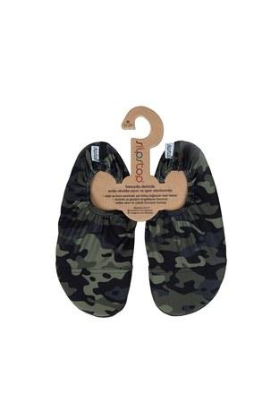 Slipstop - Slipstop Army Junior Kaydırmaz Havuz ve Deniz Ayakkabı ÇOCUK AYAKKABI SS18120179 KAMUFLAJ