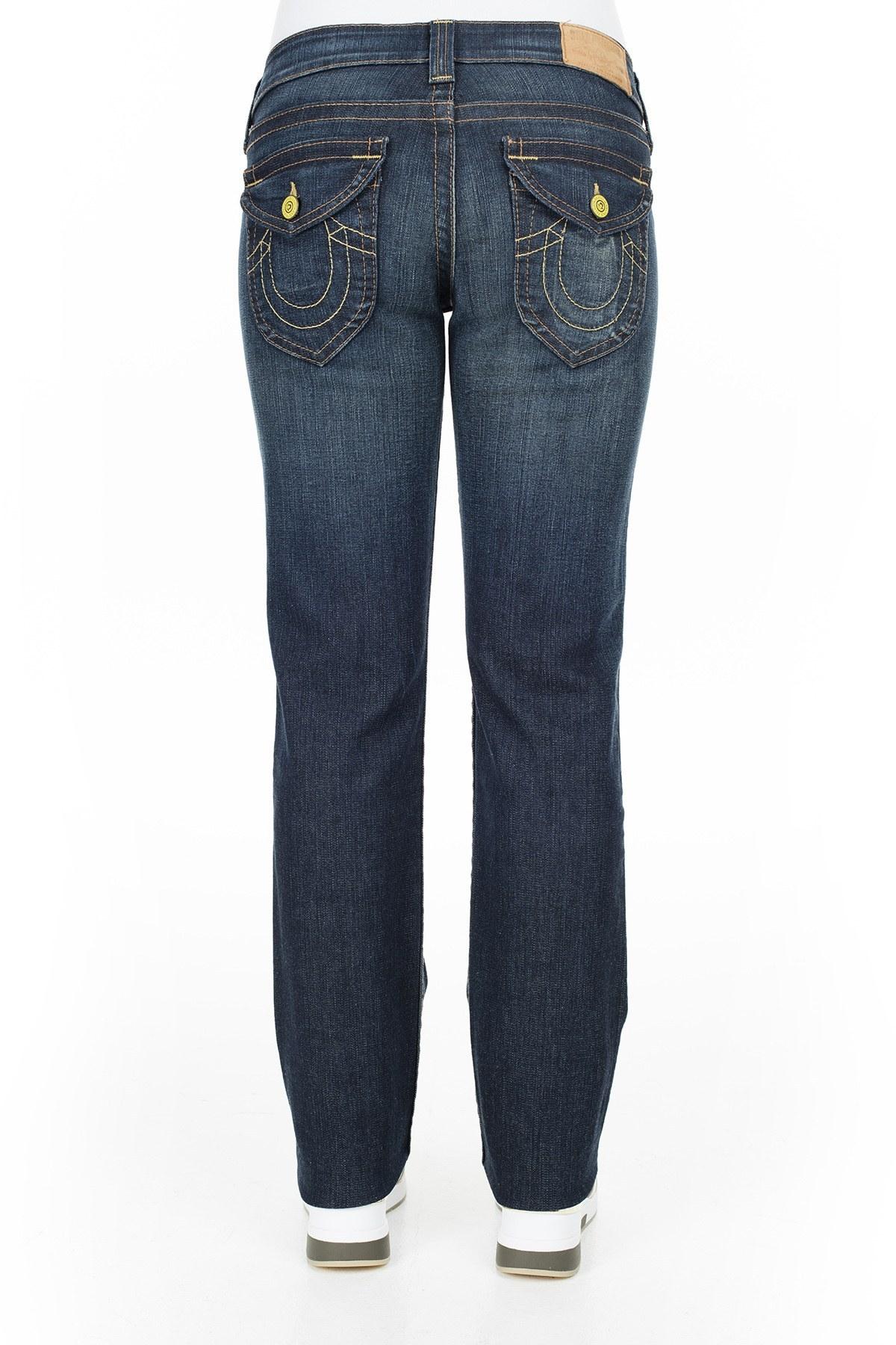 True Religion Jeans Bayan Kot Pantolon W102076E41D1 LACİVERT