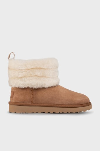UGG W Fluff Mini Quilted Bayan Bot 1098533 TABA