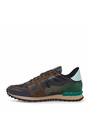 Valentino - Valentino Deri Sneaker Erkek Ayakkabı S0723 TCC K22 HAKİ-YEŞİL (1)