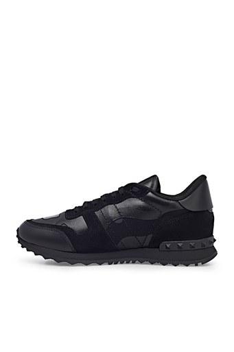 Valentino Hakiki Deri Sneaker Erkek Ayakkabı S0723 NSD 0NO SİYAH