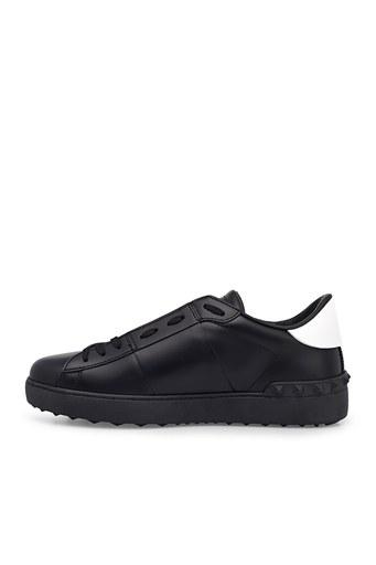 Valentino Hakiki Deri Sneaker Erkek Ayakkabı S0830 XZU 0NI SİYAH