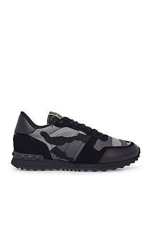 Valentino - Valentino Sneaker Erkek Ayakkabı S0723 QRK 52V SİYAH-GRİ