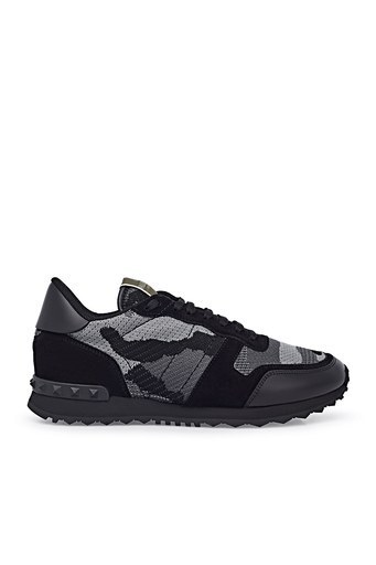 Valentino Sneaker Erkek Ayakkabı S0723 QRK 52V SİYAH-GRİ