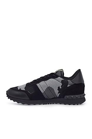 Valentino - Valentino Sneaker Erkek Ayakkabı S0723 QRK 52V SİYAH-GRİ (1)