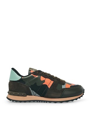 Valentino - Valentino Sneaker Erkek Ayakkabı S0723 TCC FR4 BORDO-HAKİ