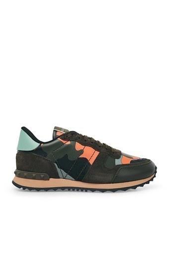 Valentino Sneaker Erkek Ayakkabı S0723 TCC FR4 BORDO-HAKİ