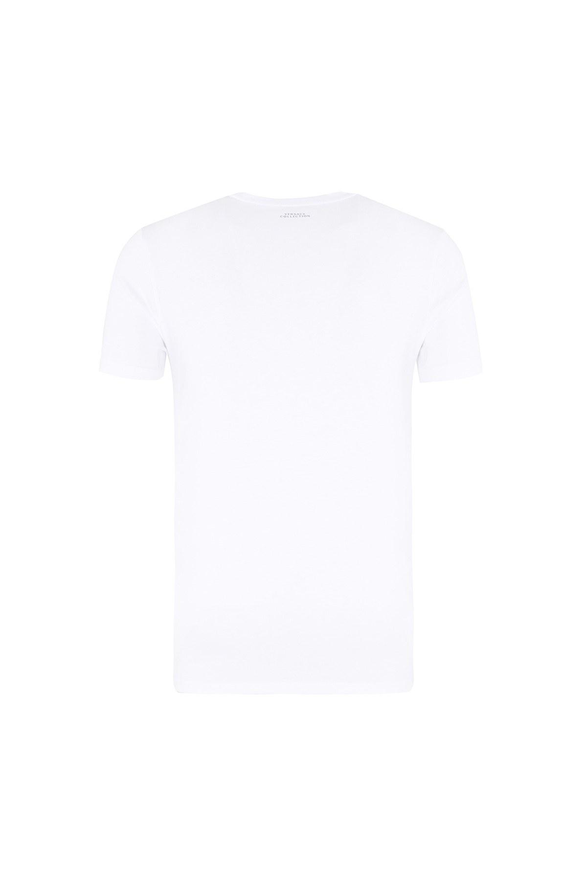 VERSACE COLLECTION T SHIRT Erkek T Shirt V800683S VJ00472 V7001 BEYAZ