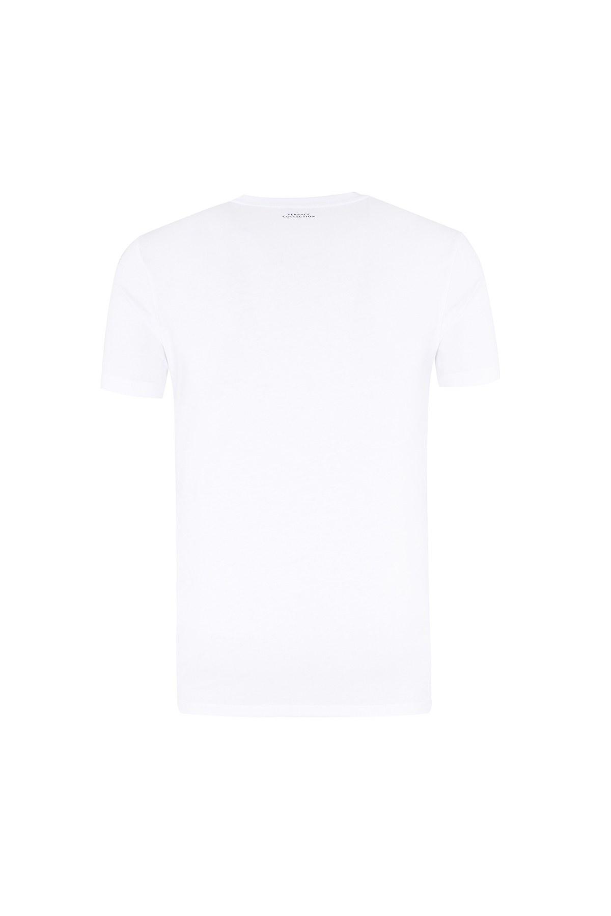 VERSACE COLLECTION T SHIRT Erkek T Shirt V800683S VJ00477 V1001 BEYAZ