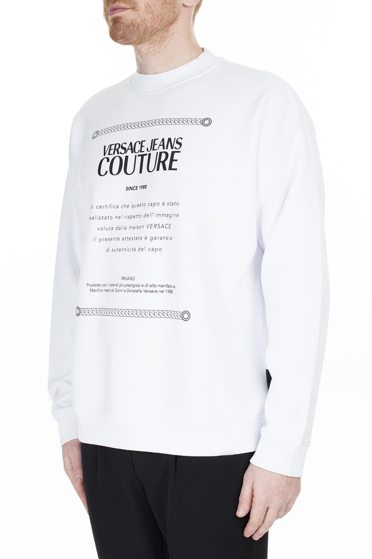 Versace Jeans Couture Erkek Sweat S B7GUA7F7 30216003 BEYAZ