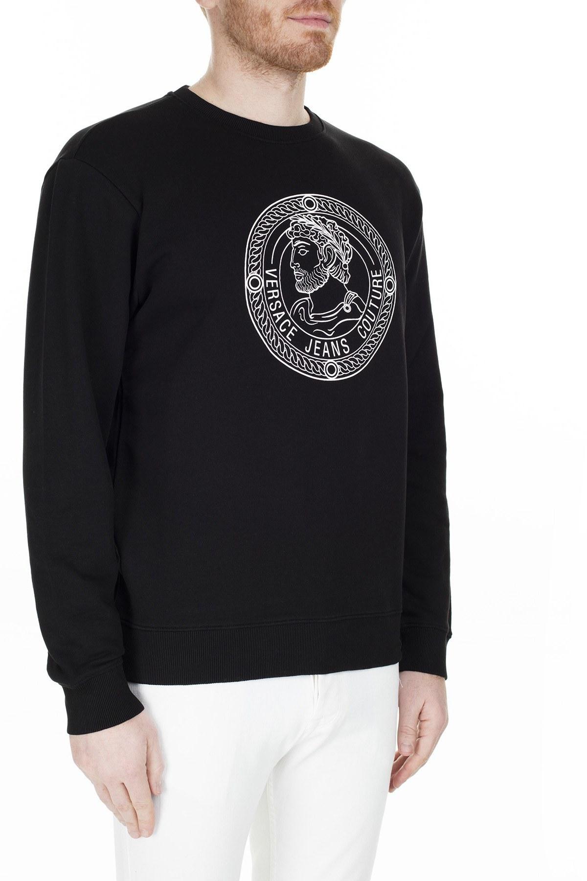 Versace Jeans Couture Erkek Sweat S B7GUA7F9 36604899 SİYAH