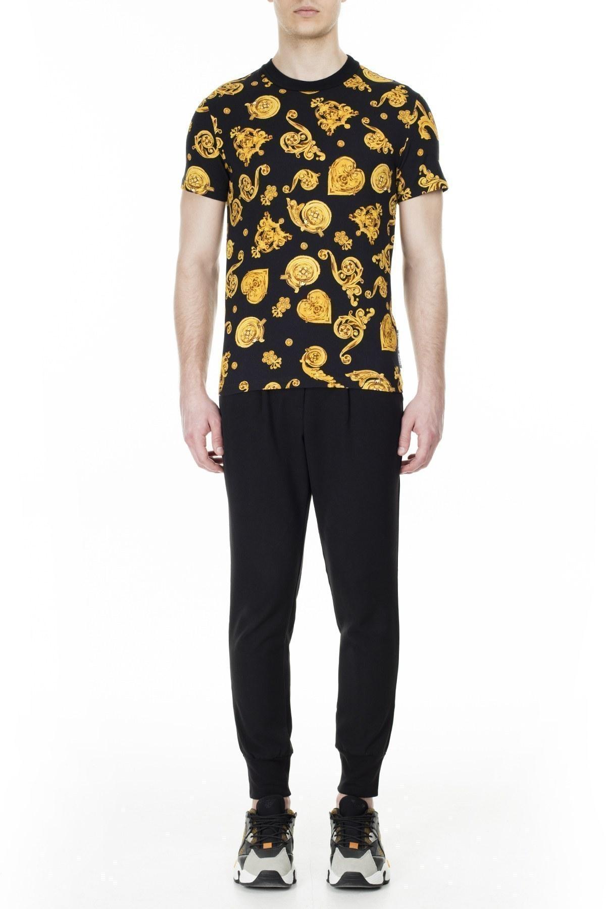 Versace Jeans Couture Erkek T Shirt B3GVB724 SN600 899 SİYAH