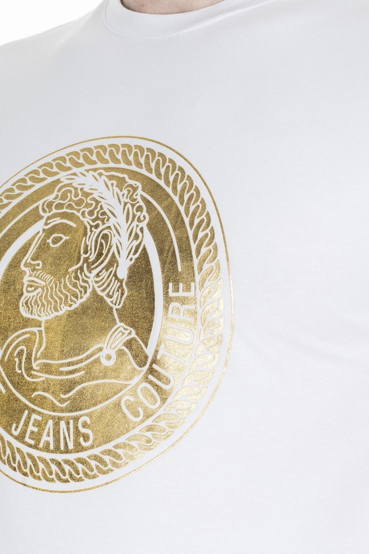 Versace Jeans Couture Erkek T Shirt S B3GUA7KB 36598003 BEYAZ