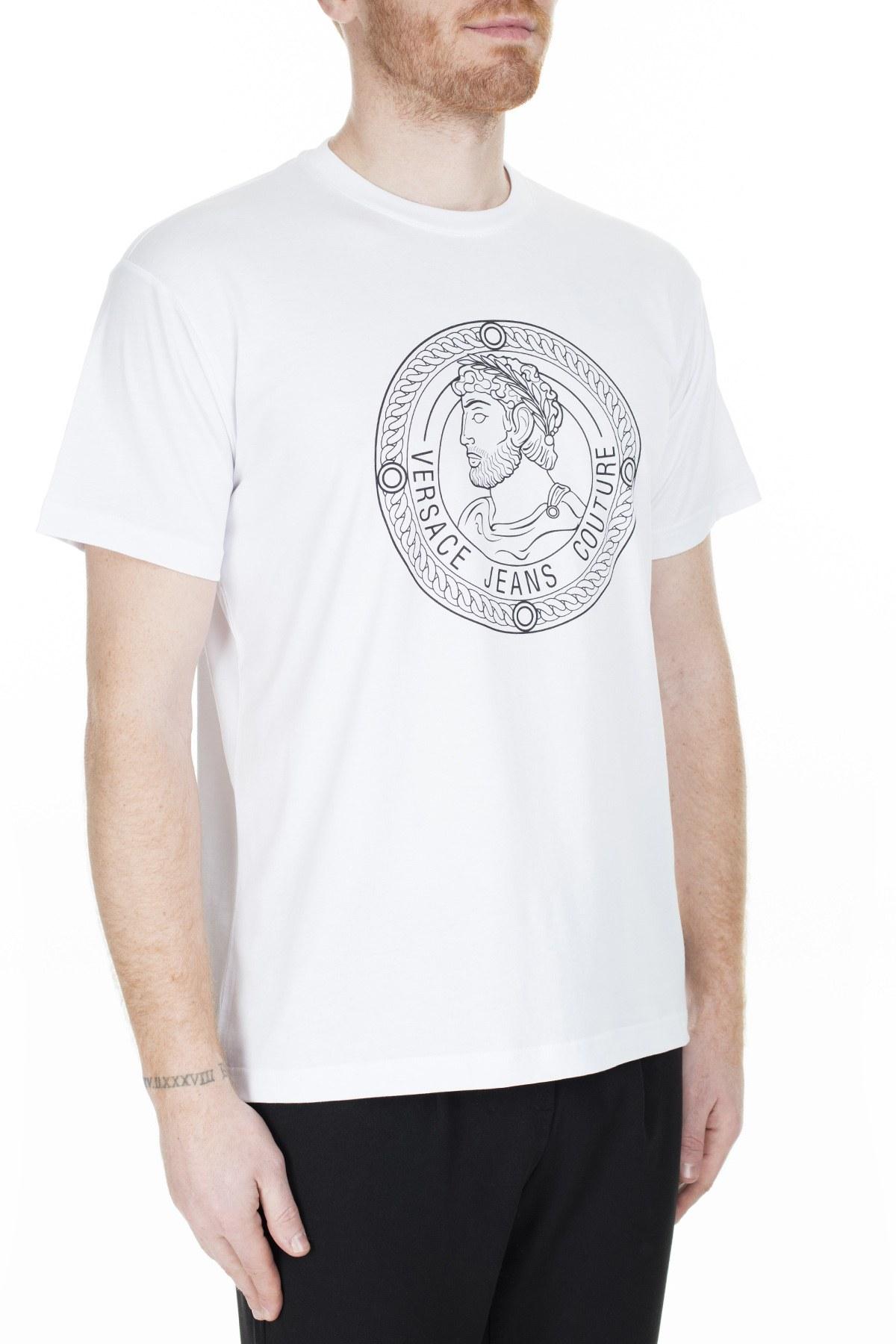 Versace Jeans Couture Erkek T Shirt S B3GUA7TB 36610003 BEYAZ