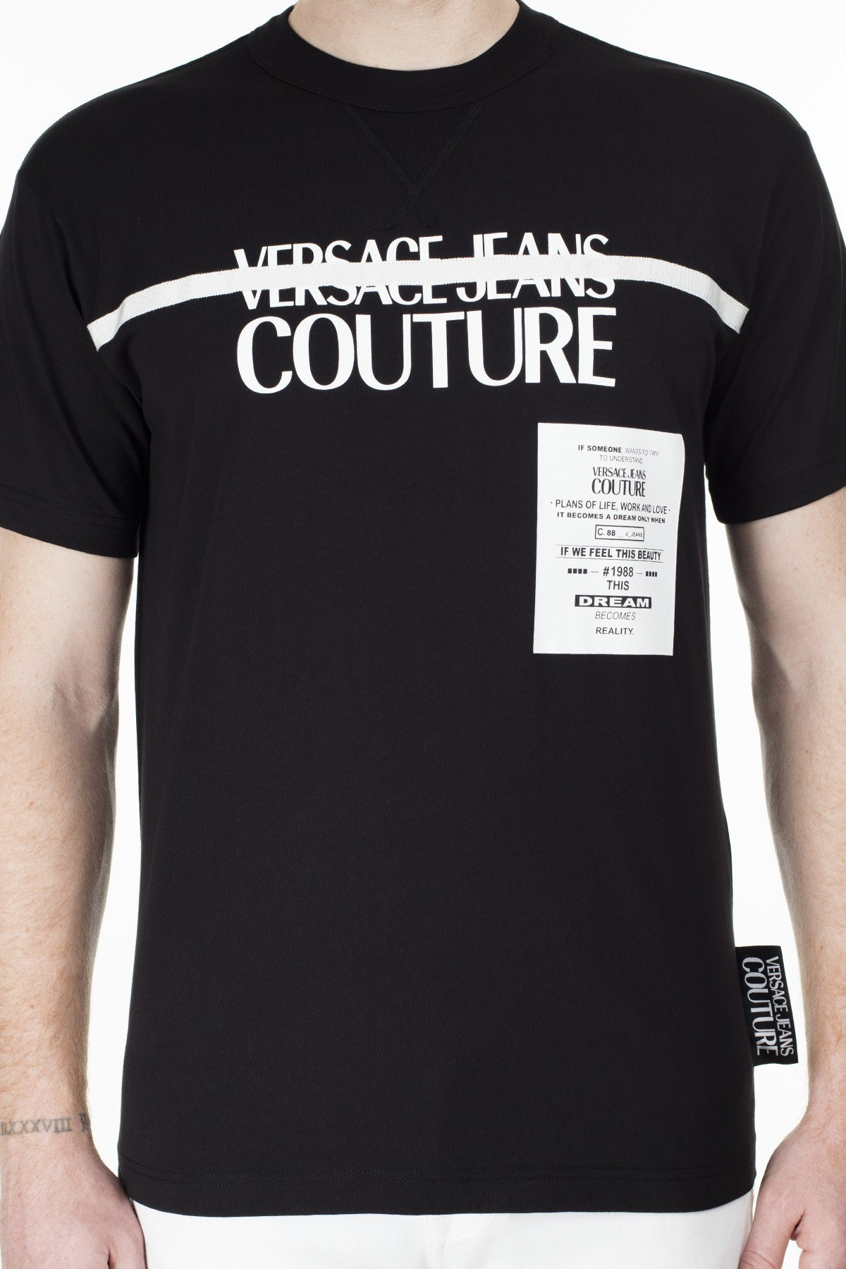 Versace Jeans Couture Regular Fit Erkek T Shirt B3GVB7TF 30319 899 SİYAH