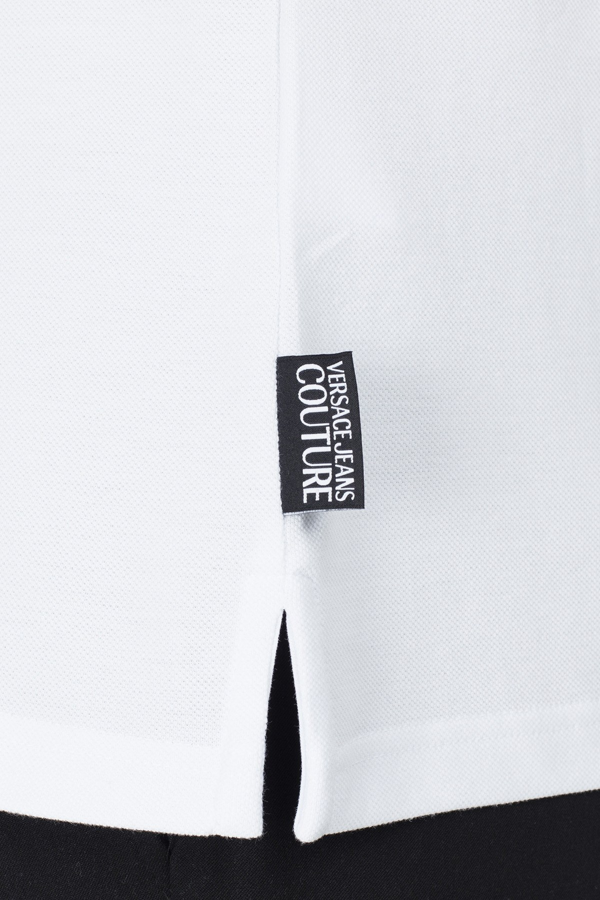 Versace Jeans Couture Regular Fit T Shirt Erkek Polo B3GVB7P5 36571 003 BEYAZ