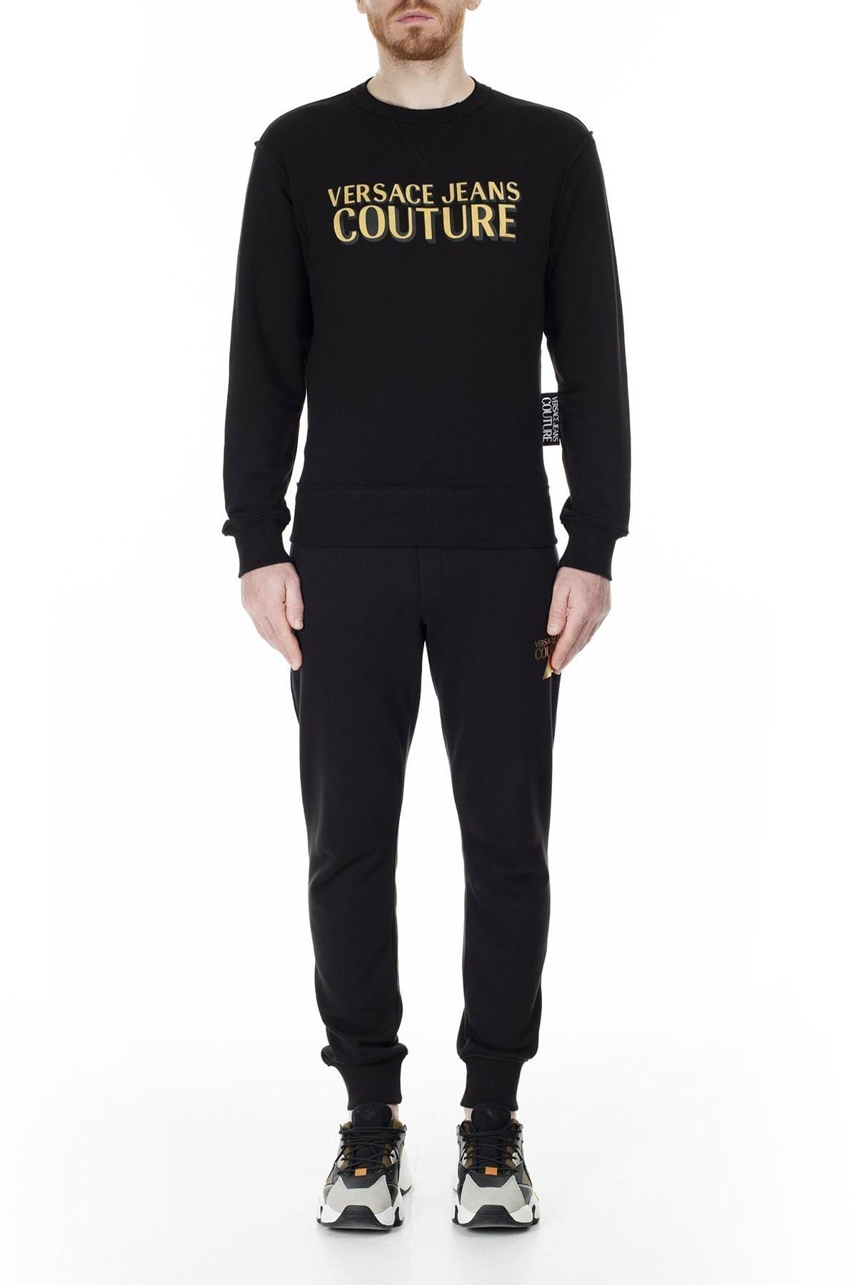 Versace Jeans Couture Slim Fit Erkek Sweat B7GVB7KJ 30328 K42 SİYAH