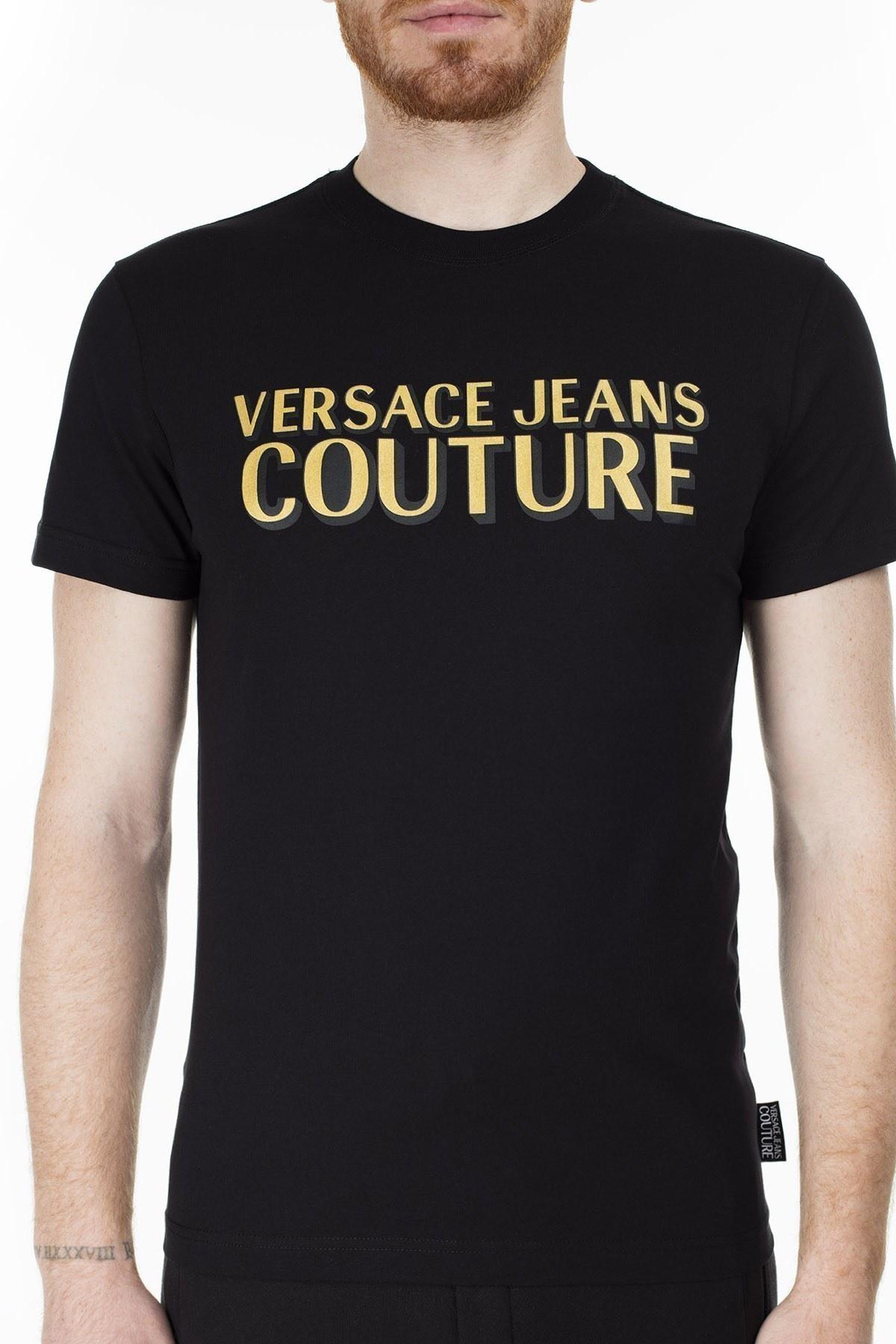 Versace Jeans Couture Slim Fit Erkek T Shirt B3GVB7KA 30327 K42 SİYAH